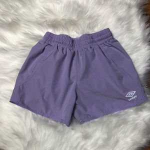 Umbro Girl Lavender Athletic Active Shorts M